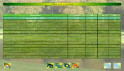 Course and Tees Screen of Chart My Golf